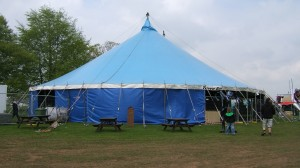 Blue Big Top Tent